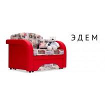 Soho красный (Ткань + Экокожа)