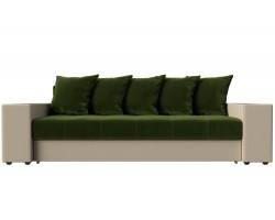 Прямой диван кожаный Дубай